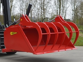 Hydraulic grapple bucket (fork mounted)