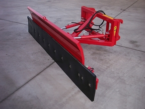 Rubber scraper for reach loader/shovel