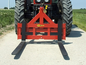 Pallet carrier with adjustable forks