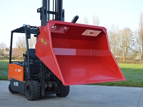 Loading bucket (fork carriage mounted)