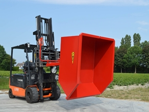 Tipping container (fork mounted)